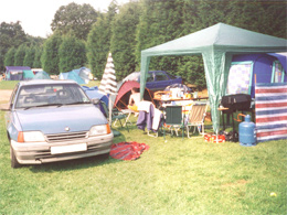 Campsite in Norfolk with parking