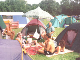 Family camp site in norfolk